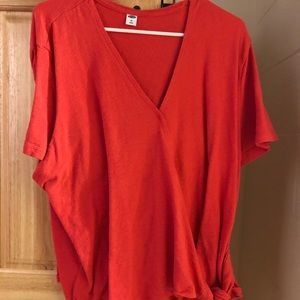 Textured Wrap Front Side Tie Top